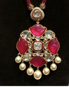 Amrapali ruby and diamond necklace via@sarahljordy