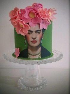 Frida Kahlo cake by ALexandra Alifakioti