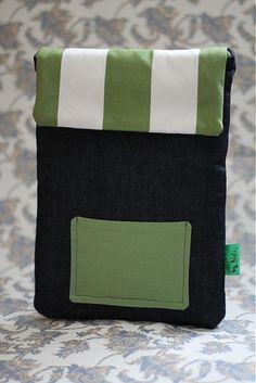 byNELI / obal na laptop: stripes'n'jeans