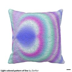 Light colored pattern of line pillow