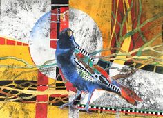 Wild about Painting by Karen Knutson: 2016 Collage Portrait, Crow Art, Bird Quilt, Collage Art Mixed Media, Bird Artwork, Art Google, Art Lessons, Modern Art, Abstract Art