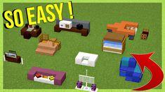 10 EASY Furniture IDEAS - Minecraft