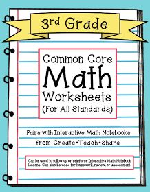 Create●Teach●Share: Common Core Worksheets (3rd Grade Edition)
