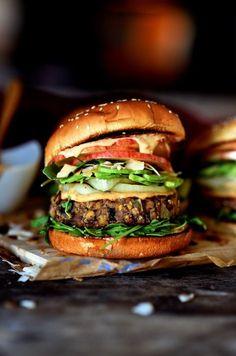 Veggie burgers! Enjoy 16 veggie burgers that will get you through the barbecue season! #burger, #veggieburger, #veganburger, #veganburgerrecipes, #burgers, #burgerrecipes, #veggieburgerchickpea, #veggieburgerblackbean,