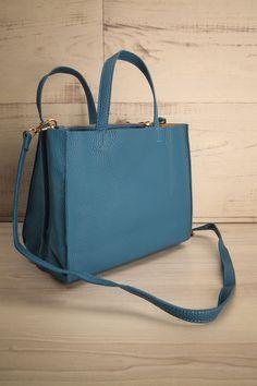 Watten Bleu - Blue textured little handbag