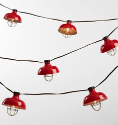 20 Cargo String Lights Tomato Red - 21' Cord A7113