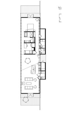 long and skinny house plan