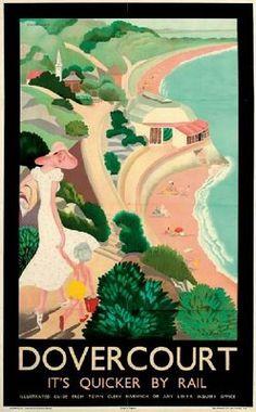 "Anna Zinkeisen - ""Dovercourt"" Lithograph, 1933."