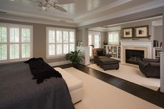 Bookshelves and fireplace in sitting area. Traditional Bedroom Photos Design, Pictures, Remodel, Decor and Ideas - page 82