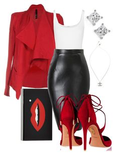 """Dirty Diana"" by perichaze ❤ liked on Polyvore featuring Wolford, Charlotte Olympia, Aquazzura and Chanel"