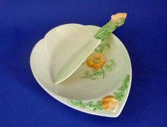 Carlton Ware Butter Dish and Knife Carlton Ware, Buttercup, Butter Dish, Garland, Pottery, Plates, Tableware, Design, Ceramica