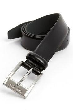 BOSS HUGO BOSS Leather Belt available at #Nordstrom