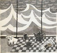 David Hockney, Bodge the Dachshund and a Los Angeles Tea Table, fax picture