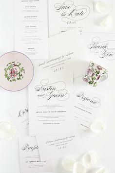 Script Wedding Invitations | Shine Wedding Invitations