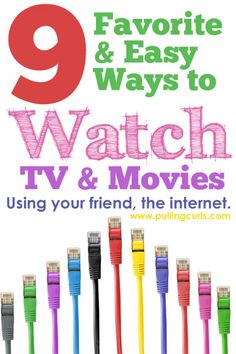 Do you feel like watching TV or movies using your internet seems to copmlicated? Check out this post and how easy it can be with my 9 favorite services!