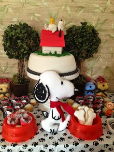 Festa Snoopy para Carol - Snoopy Party - Peanuts Party | I Love Valentina