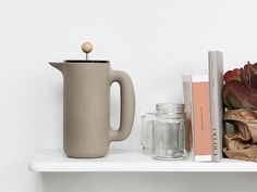 The Muuto Push Coffee Maker has a contemporary design, yet with warm and rounded shapes. The raw stone finish gives this design a unique quality. Skandinavisch Modern, Modern Contemporary Homes, Contemporary Interior Design, Contemporary Rustic Decor, Japanese Interior, Own Home, Shades Of Blue, Home Accessories, Coffee Maker