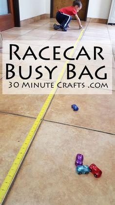 Playing with Toy Cars is a classic busy bag activity. Since becoming a boy mom, I've regularly keep toy cars in my purse, and once handed a toy car from my purse to the fussy toddler of a stranger in line. (We moms have to stick together!)Toy cars are inexpensive, small, and a great way …