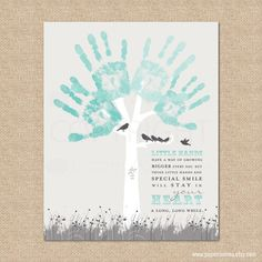 DIY Gift from kids for Mom, Dad or anyone special / Personalized Print featuring Child's handprints // 8x10 on Etsy, $15.00