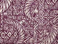 Lava lava Fabric: One of the best Lavalava fabric, Polynesian Tattoo, Quilt Pattern, Leaves, Maroon. Sold at HawaiianFabricNBYond.Etsy.com