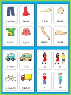 French Flash Cards  Basic Vocabulary