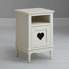 Buylittle home at John Lewis Victoria Bedside Table, White Online at johnlewis.com