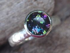 mystic topaz ring  7mm natural blue green topaz by preciousjd, $78.00 favorite to go with band in store