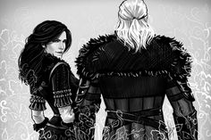 Yennefer and Geralt by Anastasia Kulakovskaya (Witcher)