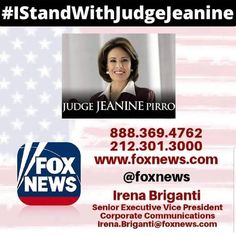 Everyone call & tell them to put Judge Jeanine back on the air! Political Quotes, Political Views, Jeanine Pirro, Vs The World, Let That Sink In, Corporate Communication, The Right Stuff, Conservative Politics, God Bless America