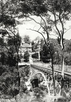 The footbridge at Mosman,in northern Sydney in Sydney Area, North Shore, Old Photos, Colonial, Vietnam, Sailing, Past, Australia, History