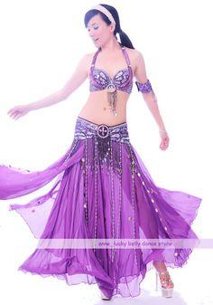 New Belly Dance Costume 3 Pics Bra Belt Skirt 34B C 36B C 38B C 40B C 11 Colours | eBay