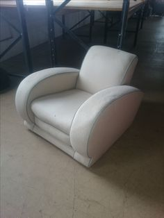 BEFORE; Deco chair in need of a make over