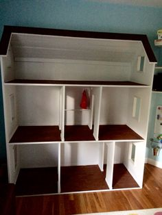 18 inch doll house- american girl doll. Modified from Ana White's plans.