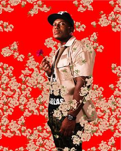 Kehinde Wiley, Alston Sajery, After Hans Holbein the Youngers Portrait of Simon George, Black Light series, Photograph 2009.