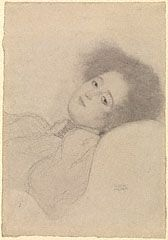 Portrait of a Young Woman Reclining, Gustav Klimt, 1897-98. The J.  Paul Getty Museum