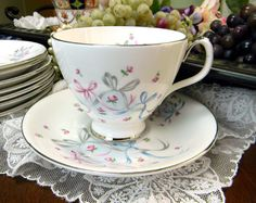 Royal Albert Buttons and Bows Footed Teacup Tea Cup and Saucer 10176 on Etsy, $20.15 AUD