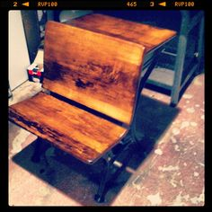 Antique school desk refinished