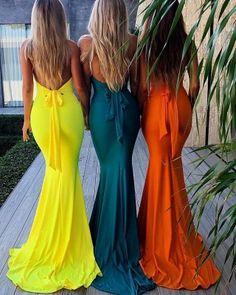 Sexy Deep V-Neck Halter Bridesmaid Dress, Mermaid Bright Backless Bridesmaid Dress, Backless Bridesmaid Dress, Mermaid Bridesmaid Dresses, Prom Dresses Uk, Cheap Dresses, Formal Dresses, Long Dresses, Dresses Online, Nice Dresses, Bridesmaids