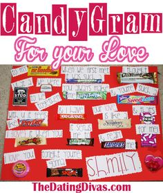 A candy bar card is the perfect, easy gift for any occasion!  www.TheDatingDivas.com #valentine #anniversary #birthday