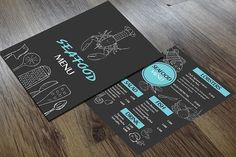 SEAFOOD MENU by Angela Pranarova on @creativemarket