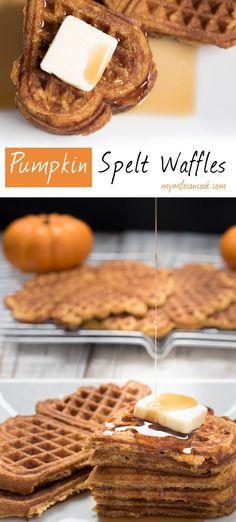 waffles before. But these waffles are spelt pumpkins waffles. Spelt ...