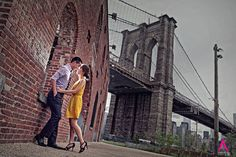Brooklyn Bridge Dumbo Park Jane's Carousel Engagement Photo session New York City Wedding Photography