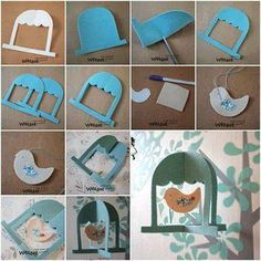 How to make Cute Felt Bird Mobile step by step DIY tutorial instructions thumb… Crafts For Kids To Make, Crafts For Teens, Diy Projects To Try, Bird Crafts, Felt Crafts, Fabric Crafts, Felt Kids, Bird Mobile, Bird Theme