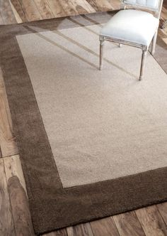 Tuscan Woven Solid Border Neutral Rug | Contemporary Rugs #RugsUSA