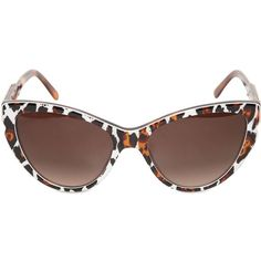 STELLA MCCARTNEY Animal Print Cat Eye Acetate Sunglasses ($225) via Polyvore