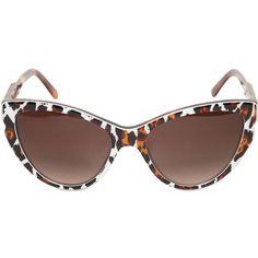 STELLA MCCARTNEY Animal Print Cat Eye Acetate Sunglasses ($225) via Polyvore