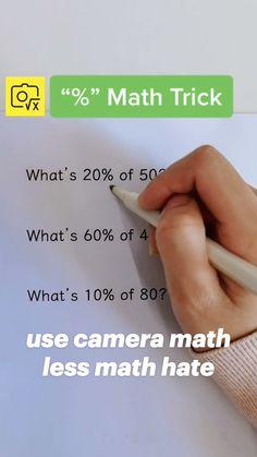 Math Skills, Math Lessons, Math Tips, Life Hacks For School, School Study Tips, Math For Kids, Fun Math, Math Resources, Math Activities