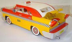 Miniatura de táxi - papelão