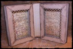 Sandy-Craft: Mein kleines Zauber-Buch ..... Frame, Home Decor, Books, Cards, Homemade Home Decor, A Frame, Frames, Hoop, Decoration Home