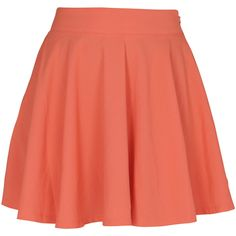 Don't Ask Amanda Whip It Skater Skirt ($53) ❤ liked on Polyvore featuring skirts, bottoms, saias, faldas, orange skirt, summer skirts, orange skater skirt, neon circle skirt and neon orange skirt